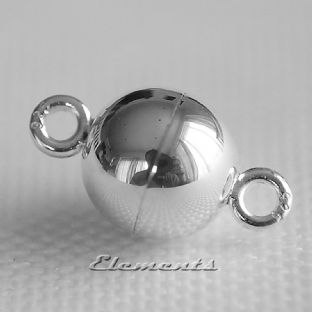 Sterling Silver Ball Magnetic Clasp